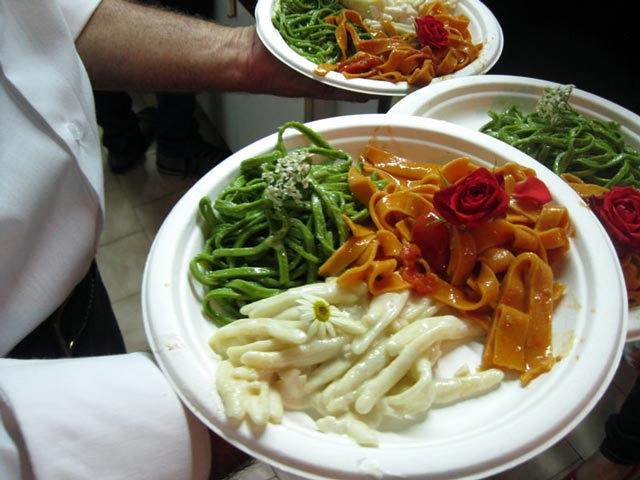 three-plates-of-tri-colored-pasta