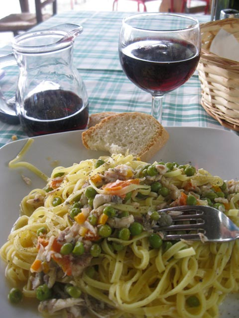 Homemade-tagliatelle-with-coregone-and-new-peas