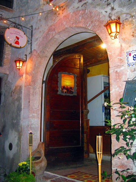 Medieval-arch-old-wooden-door-of-entryway