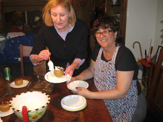Anne-and-Marilyn-serve-up-the-amaretti-stuffed-baked-apples
