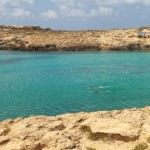 A swim in a solitary cove-2