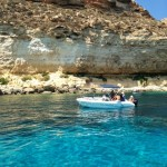 Splendid coastline, splendid waters of Lampedusa