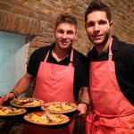 Stefano e Michele serve 2nd course