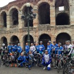 Athletes today in Verona ..in front of  1st AD Arena