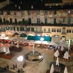 Nightime-view-of-Piazza-delle-Erbe-from-our-Verona-B&B