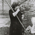 Nonna with her broom made of broom 1975