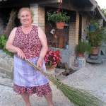 Chiarina with her broom of broom, 2013