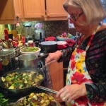 Anne handles our eggplant