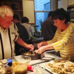 DOUG, JOAN ON THE BRUSCHETTA