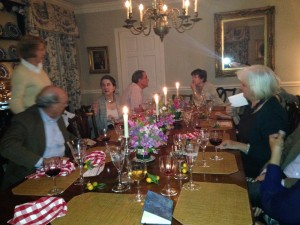 Friends gather for an Umbrian feast