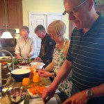A cooking team at work