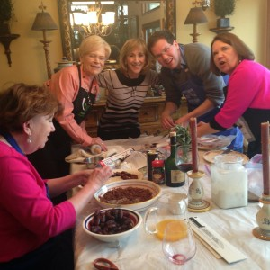 All generations join to cook with Paulette