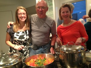Gary welcomes cooking class guests