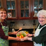 JoAnne and Lenore handle the peperonata