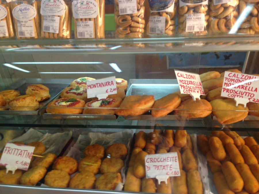 All kinds of tempting snacks at Forno Aiello