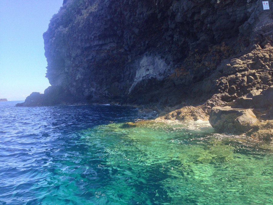 Enticing coves surround the island