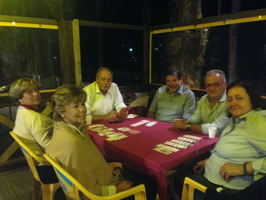 A group from Spoleto plays cards here many an evening