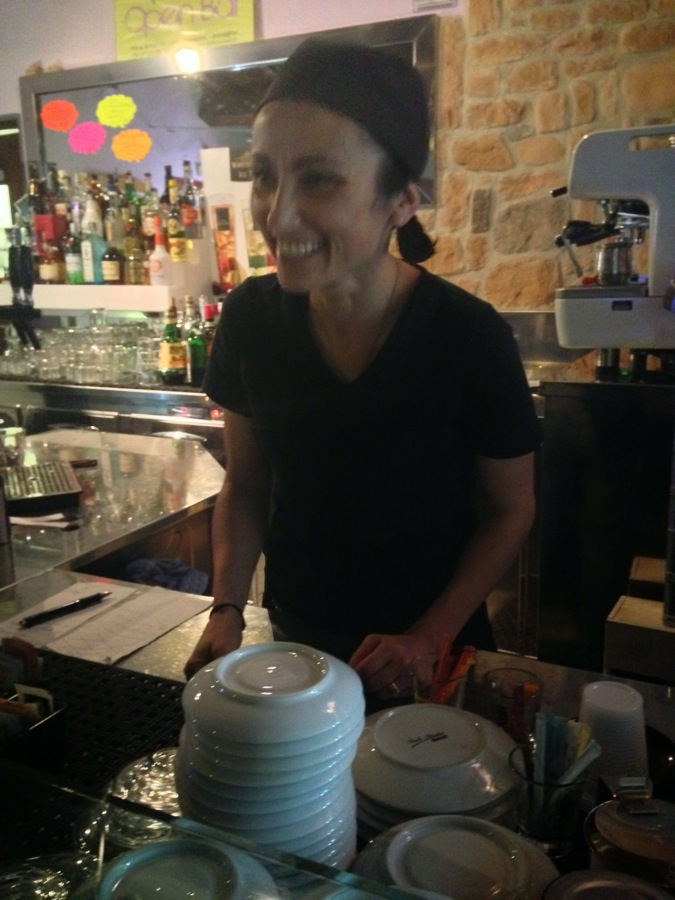 Silvia makes the espresso
