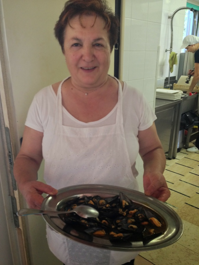 Mariola and the cozze