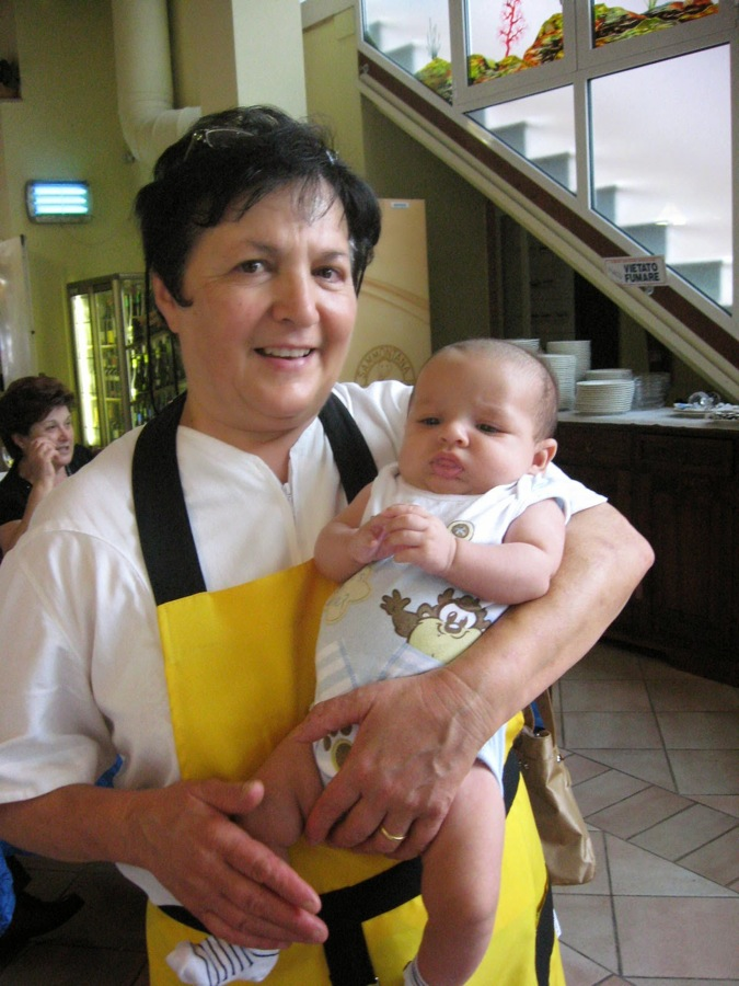 Mariola with little Tommaso
