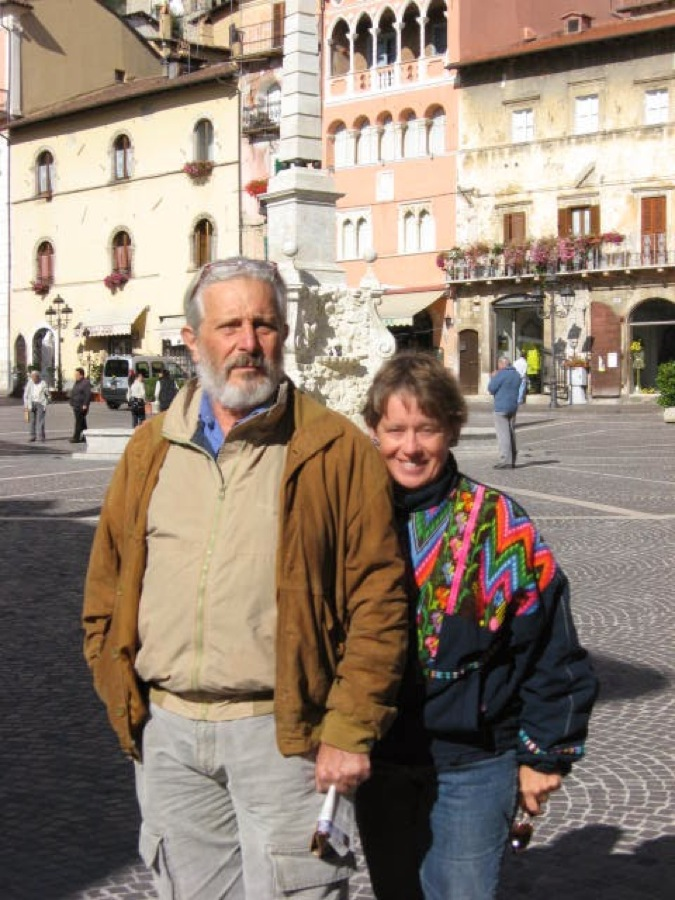 Visiting Tagliacozzo and home of friend, Silvana