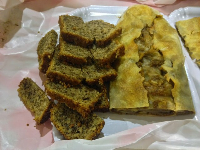Giuliva's rocciata,and tasty nut bread