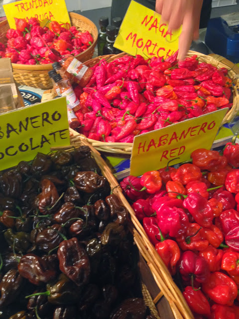 Hot peppers  - and Trinidad's is the hottest