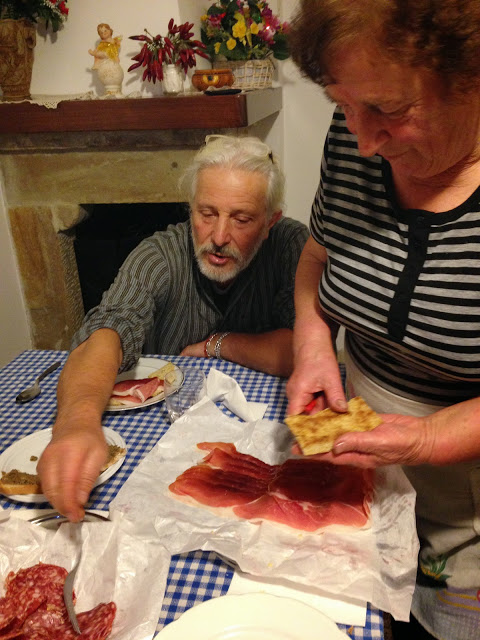 Pino opts for salami on his torta