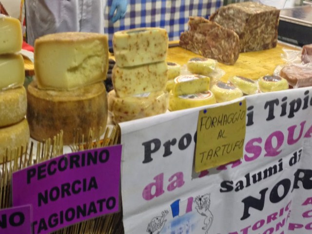 Truffles in cheeses, too
