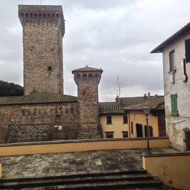 Lucignano, a fortified medieval hill town of southern Tuscany