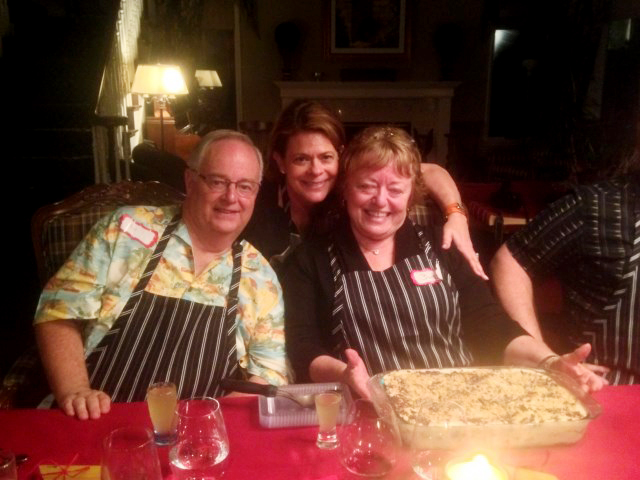 Bill, Kris and Barbara ready to dig into our dessert