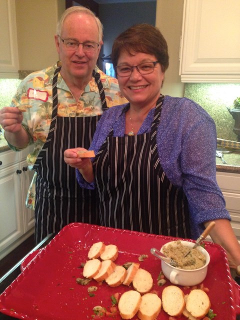 Bill and Kathie enjoy the pate'