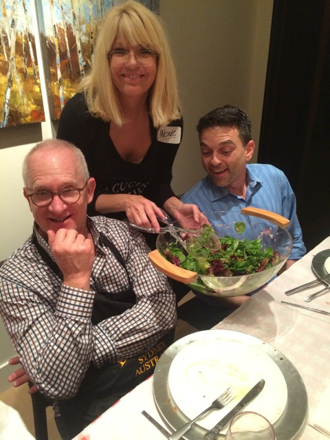 Brian, Wende, Steve meet over the good flavors of Umbria