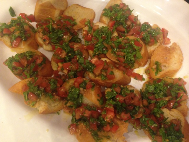 Bruschetta - one of our appetizers