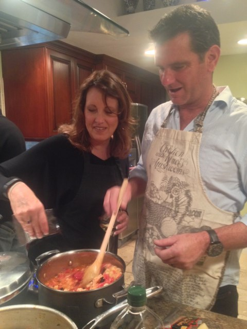 Cindy and Dave, pasta team
