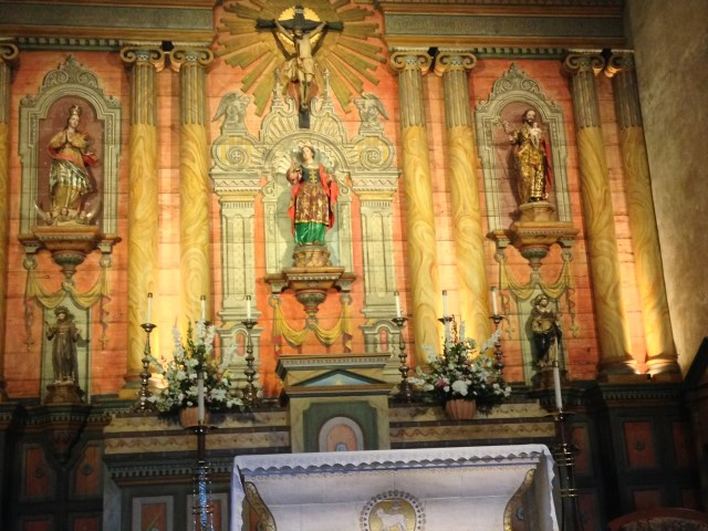 Connecting with San Francesco (lower left) in the Mission church