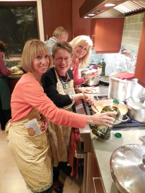 Cooking together - what a way to reunite with an old high school friend!
