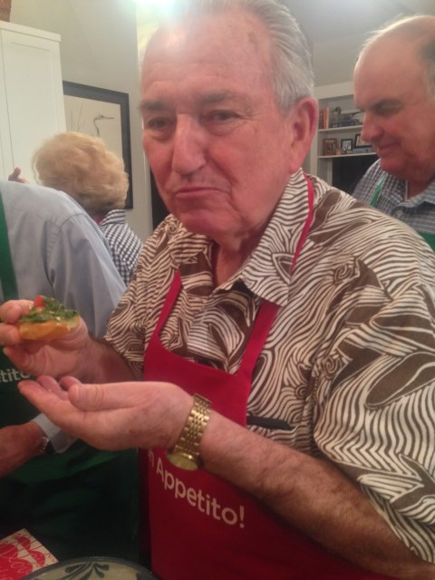Frank approves of this bruschetta!