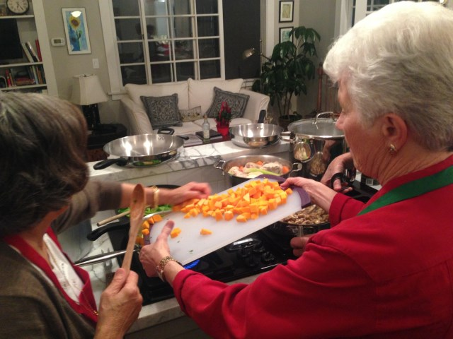 Gabrielle and Madeline on squash pasta