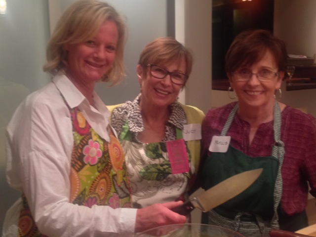 Helen, Judy and Phyllis link up while cooking