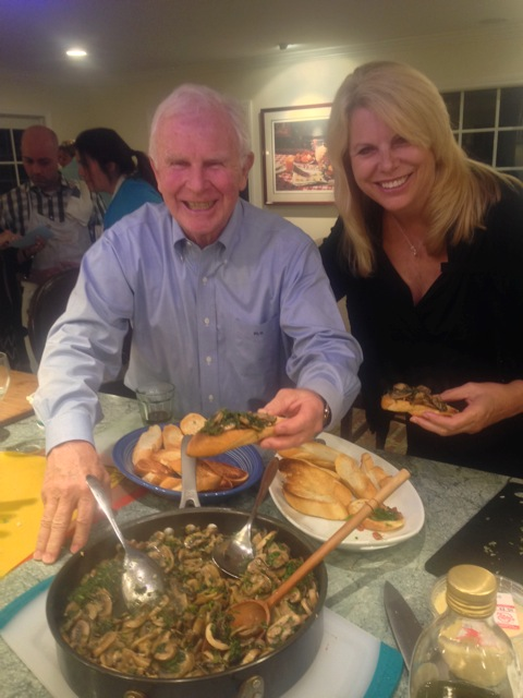 Host Michael and Lorraine savor our funghi brushcetta