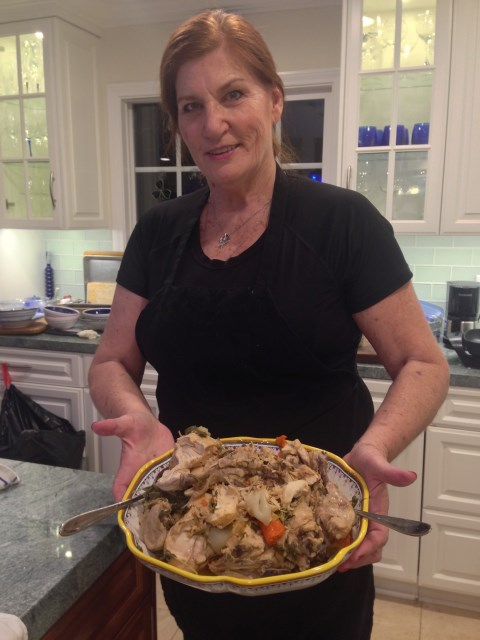 Kathy ready with Umbrian goodness