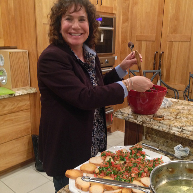 Mary Ann on the bruschetta detail