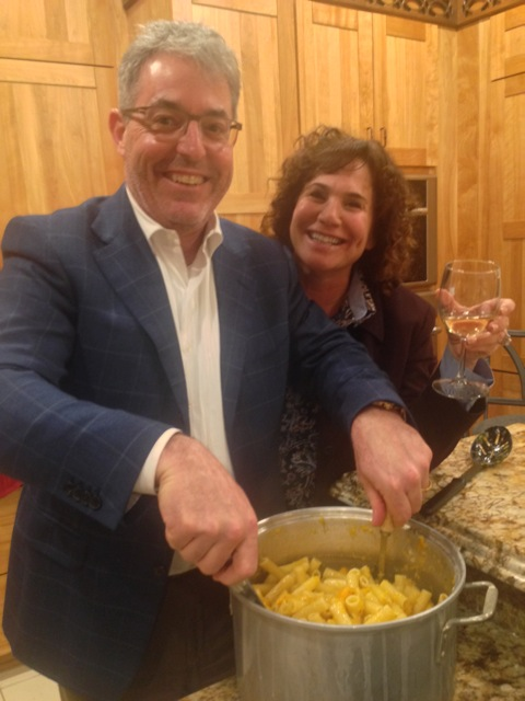 Mary Ann and James serve up the pasta