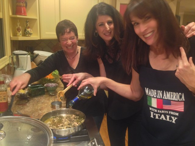 Julie and her cooking team