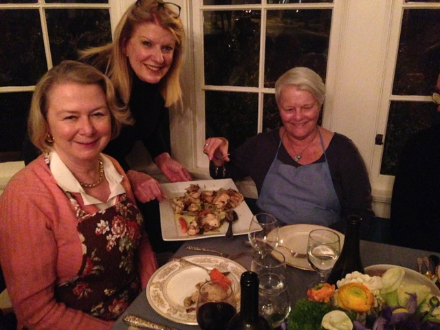 Susie, Pattie and Susan, about to enjoy Umbrian goodness