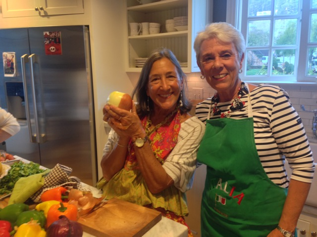Arlene and Nancy, cooking duo
