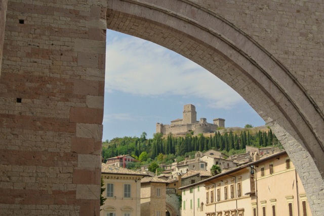 And here is a photo Julie took when we connected in Assisi