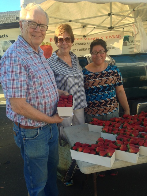 Strawberries tempt at the market