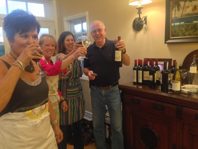Charles kicks off our cooking class with Italian wines for all